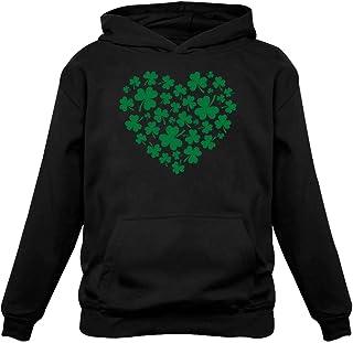 TeeStars - Irish Green Clovers Heart St. Patrick's Women Hoodie