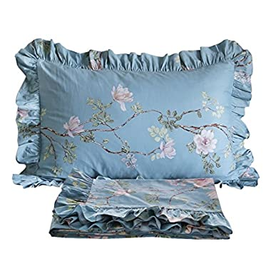 FADFAY Floral Bed Sheet Set Cotton Sheets 4-Piece Queen Size