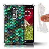 Stuff4® Gel TPU Hülle/Hülle für LG G2 Mini/D620 / Knickente/Türkis Muster/Aquarell Meerjungfrau Skalen Kollektion