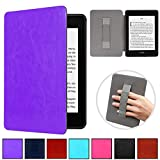 Kindle Paperwhite 10th Gen 2018 Case,Artyond PU Leather Cover with Auto Wake/Sleep Feature Hand Strap Holding Smart Sleeve Case for All-New Kindle Paperwhite 10th Generation 2018 Release (Purple)