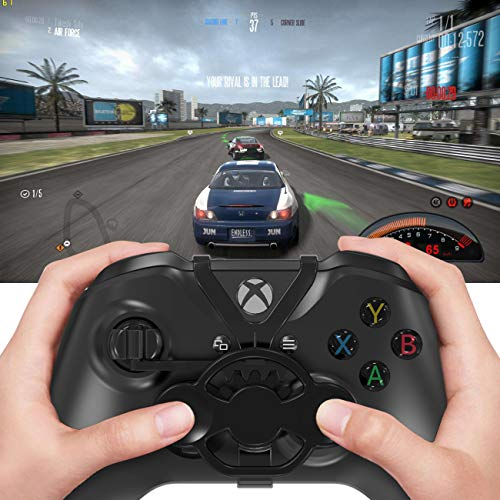 AmCube Xbox One Mini Steering Wheel (2019 Upgrade), Durable and Heightening Xbox One X and Xbox One S Controller Add-on Replacement Accessories for All Xbox Racing Game(Not for xbox One elite)