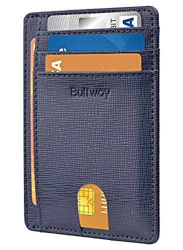 Slim Minimalist Leather Wallets for Men & Women – Canyon Blue