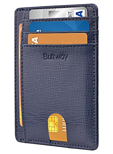 Slim Minimalist Leather Wallets for Men & Women – Canyon Blue