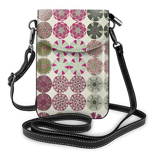 Fundas de botón de piel de menta para el hombro, bolso cruzado para el teléfono celular, bolso ligero, bolso de mano, bolso para mujeres, viajes de compras