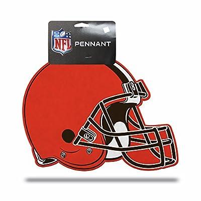 NFL Rico Industries Football Helmet Die Cut Pennant Decor, Cleveland Browns