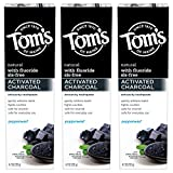 Tom's of Maine Activated Charcoal Whitening Toothpaste with Fluoride, Peppermint, 4.7 oz. 3-Pack