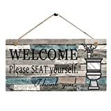 Tableaux dart Ornements Accessoires aiyvi Panneau en Bois /ÉTiquette Signes D/éCoratifs Plaques Bienvenue Veuillez Vous Asseoir Imprim/é Plaque Signe Tenture Murale De Bienvenue