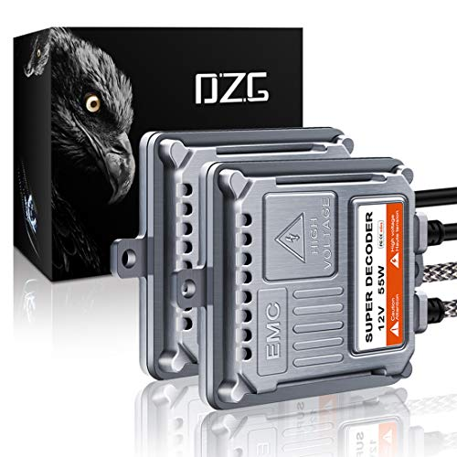 professional DZG HID HID Xenon Headlight Ballast AC 55W AC with Super Canbus EMC Decoder 2pcs