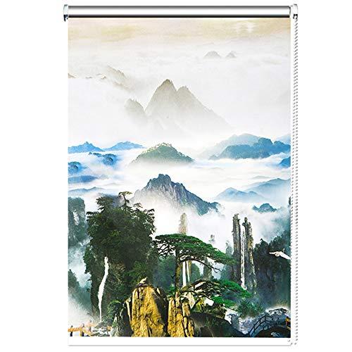 Persiana Enrollable Apagón Cortinas enrollables Persianas térmicas de Ventana con una Bonita montaña y Vistas al Paisaje - 60cm / 80cm / 100cm / 120cm / 140cm de Ancho (Size : 140x160cm)