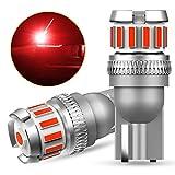 OXILAM T10 LED レッド ライセンスランプ 高輝度 爆光 CANBUSキャンセラー内蔵 ナンバー灯 ルームランプ メーター球 ウエッジ電球 無極性 DC9-18V 車用 車検対応 1年保証 2個入