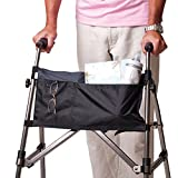 Stander 2-Pocket Organizer Pouch, Replacement Travel Bag, for EZ Fold-N-Go Walker and Rollator, Able Life Space Saver Walker, Black