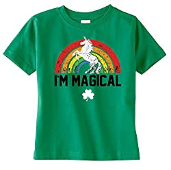 St. Patrick's Day Magical Unicorn Tshirt Green
