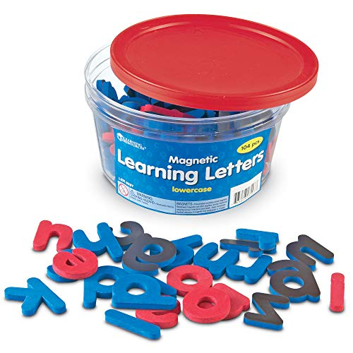 Learning Resources Magnetic Learning Letters - Lowercase, Stick to Fridge, Ages 3+,Multi-color