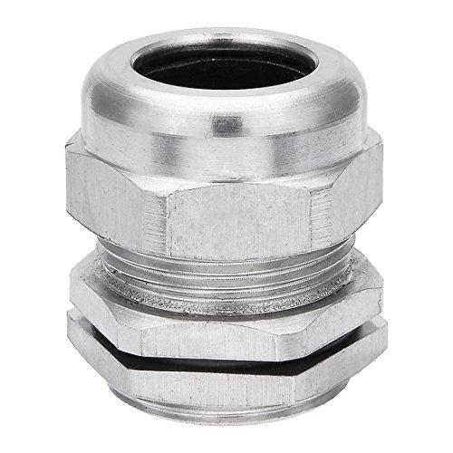 sourcing map Kabelverschraubung M28*1.5 Metall Wasserdicht Stecker Kontermutter Füllung DE
