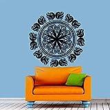 Adhesivo de pared, calcomanía artística, Mural de vinilo, 59X59Cm, mandala, adornos de Yoga, budismo indio, papel Diy, hogar