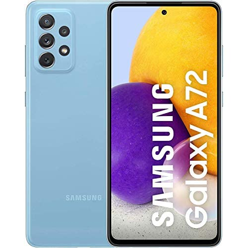 Samsung Galaxy A72 Smartphone, Display Infinity-O FHD+ da 6,7 pollici, 6 GB RAM e 128 GB di memoria interna espandibile, Batteria 5.000 mAh e ricarica Ultra-Rapida Blue [Versione Italiana]
