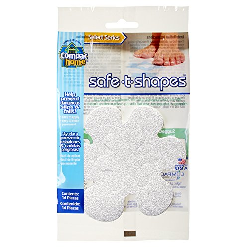 Compac Select Safe-T-Shapes Bathtub Decals, White Daisy, 14 Count