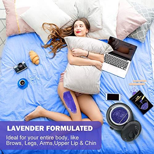 Lifestance Waxing Kit, Starter Wax Warmer Hair Removal Kit with Relaxing Lavender Formulas Hard Stripless Wax Beads, Hard Wax Kit for Body, Legs, Face, Underarm, Bikini, Brazilian