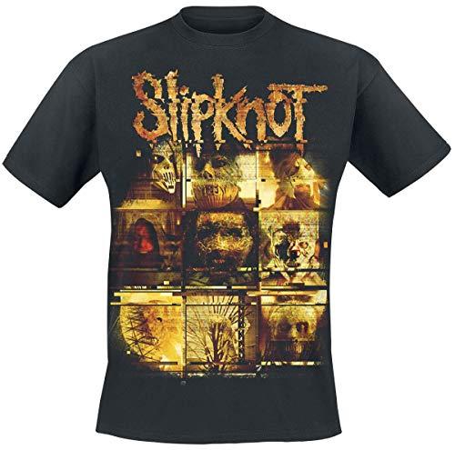 Slipknot We Are Not Your Kind - Yellow Static Hombre Camiseta Negro, Regular