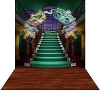 床–マルディグラ階段写真バックドロップwith–10x 20ft。–高品質シームレスなファブリック
