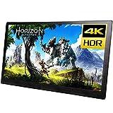 4kモバイルモニター、Xbox One PS4/5 Switchなど対応ポータブルゲーミングモニター、15.6インチ、HDMIパソコンモニター、3840*2160 、外付けディスプレイ、内蔵スピーカー、縦向きモード、HDR