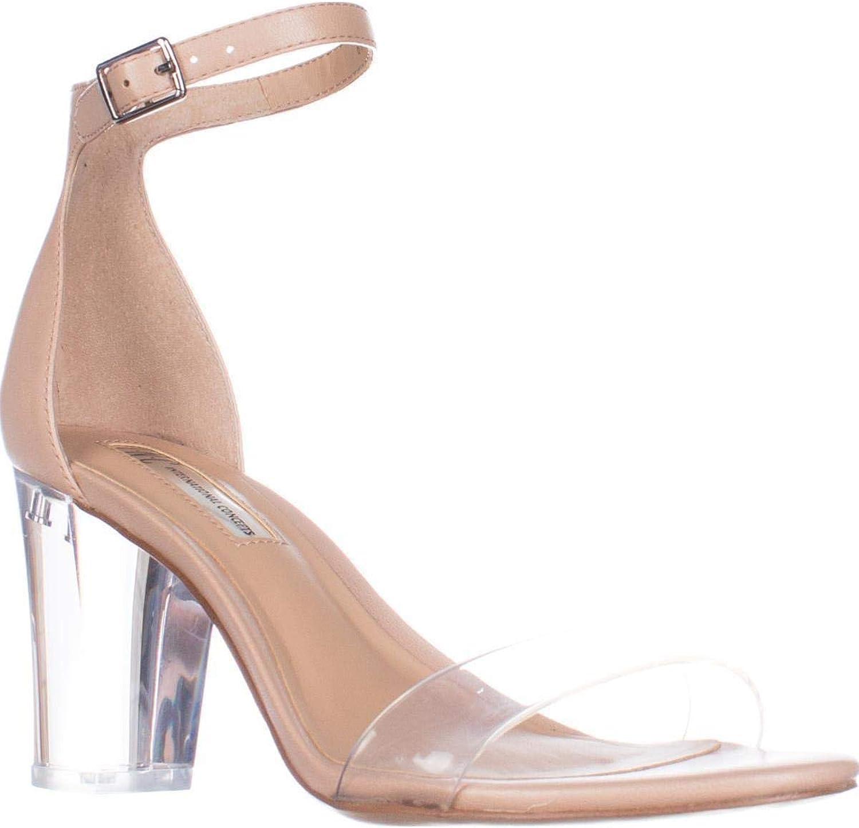 INC International Concepts I35 Kivah Ankle Strap Dress Sandals, Powder Nude, 10 US