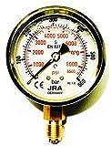 JRA-Longlife Manómetro de glicerina 0-600 bar Conexión diámetro 63, inferior G1/4'