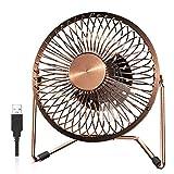 EasyAcc Ventilatore USB, 5 Pollici Ventilatore da Tavolo 2 Potenti velocità del potente vento Cavo Ventola Scrivania 120 cm Muto Ventilatore di Ferro Adatto per Ufficio/Casa/Viaggi/Campeggio