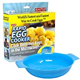 EASY BREAKFAST — Make your favorite types of eggs in less than two minutes! For days when you need a quick and hot morning or afternoon meal, the Rapid Egg Cooker makes perfectly scrambled eggs, omelettes, and more in the microwave. TOP NOTCH TOOL — ...