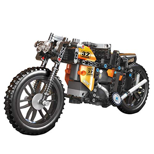 QIXIAOCYB XSuper Technical Motorbike Building Blocks 383+Pcs High-Speed Remote Control Off-road Mountain Motorcycle Model DIY Bricks Toy-Compatible With Technic Toys