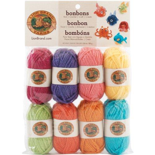 Lion Brand Yarn Lion Brand BonBons Yarn Pack Brights, 8 x 28 yd/26 m,