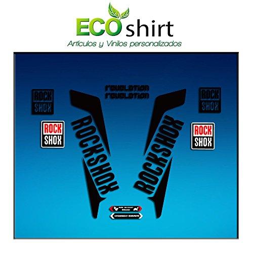 Ecoshirt IT-C7OR-K49G Sticker vork Rockshox Revelation 2016 Am38 Sticker Decals Sticker Bike BTT MTB Cycle, zwart 26 inch en 27,5 inch