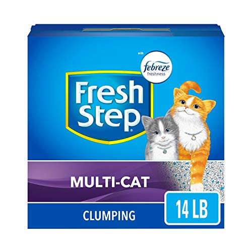 Our #9 Pick is the Fresh Step Multi-Cat with Febreze Freshness Clumping Pet Litter