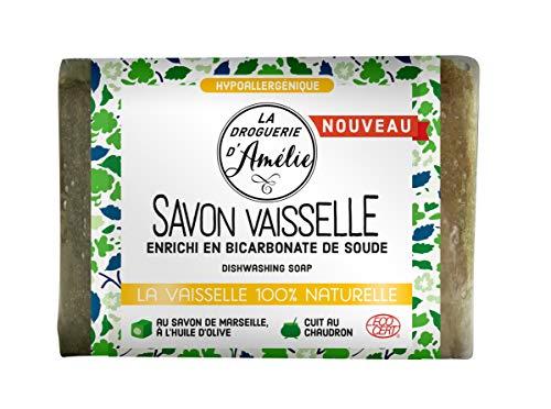Jabón de vajilla con jabón de Marsella Ecocert La Droguerie d'Amélia, 200 g