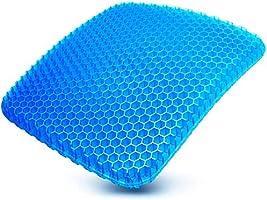 ゲルクッション 2020最新 二重 腰楽クッション 両面使用可能 腰痛対策 無重力 体圧分散 椅子 車 オフィス 自宅用 カバー1枚