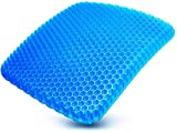 Gel Seat Cushion,Double Thick Seat Cushion with Non-Slip Cover, Multi-Use Seat Cushion Super