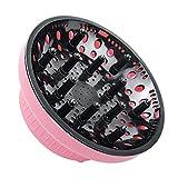 ヘアドライヤー 温風拡散フード エアディフューザー カールドライヤー スタイリングドライヤー 速乾ノズル カール&パーマ対応 ヘアサロン 熱拡散 スタイリング オールフィット やわらかい風 温風拡散器 (Pink)