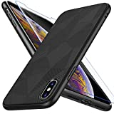 Losvick Coque iPhone XS Max, Silicone Bumper Souple[Anti-Choc Air Cushion] Fine l Flex TPU [Matte...