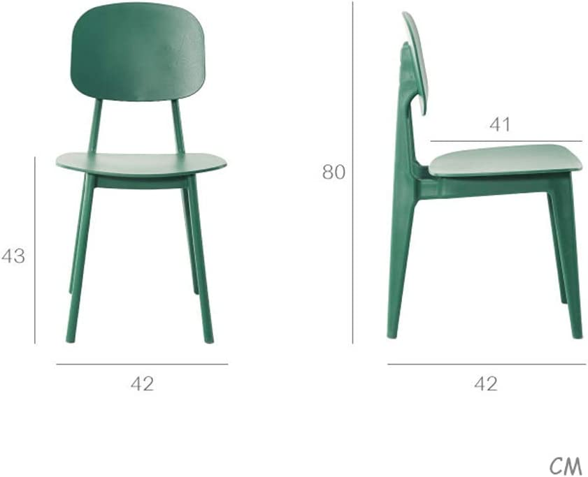 Lxn Chaise de Salle à Manger empilable Moderne en Plastique moulé, chaises sans accoudoirs, Salle à Manger, Cuisine, Chambre à Coucher, chaises de Salon - 1PCS Wood
