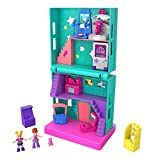 Polly Pocket Pollyville Arcade with 4 Floors, 2 Dolls & 5 Accessories