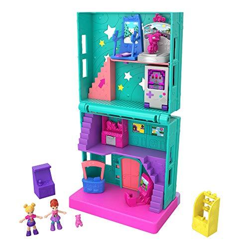 Polly Pocket GFP41 - Pollyville Store Arcade Spielhalle Puppenhaus, Puppen Spielzeug ab 4 Jahren