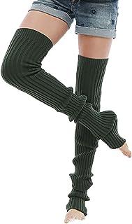 c8d1c2c736fb9 Boomly Femmes Fille Cuisse haute Chaussettes Hiver Chaud Crochet Chaussettes  à tricoter Université Yoga Sport Décontractée