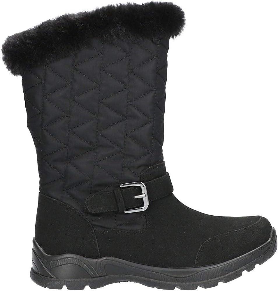 Easy Street Womens Boulder Waterproof Boots Mid Calf Low Heel 1-2