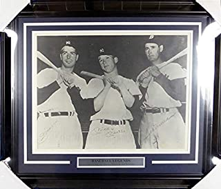 Best joe dimaggio ted williams mickey mantle autographed photo Reviews