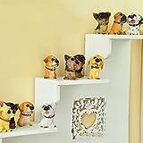 MERIGLARE 12 Unids / Set Casa de Muñecas en Miniatura Bonsai Craft Fairy Garden Paisaje Perros Deco