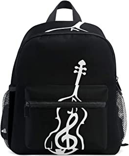 Mini Backpack with Double Bass Clef Cello Violin Print, School Bag for 1-6 Years Old