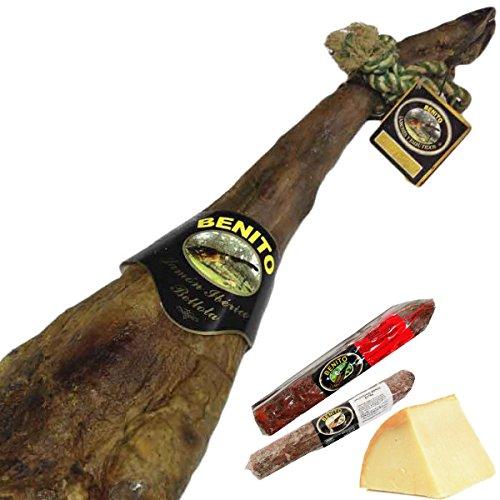 Lote Jamón Ibérico Bellota con embutidos de bellota y queso