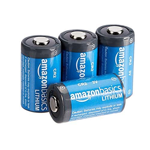 Amazon Basics - Pilas de litio CR2 de 3 V, Pack de 4