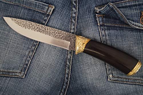 KIZLYAR Messer (Panther) Japanische Stahlklinge, Ergonomischer Arutschfester Griff, Scheide Leder - Universalmesser Zum Wandern.