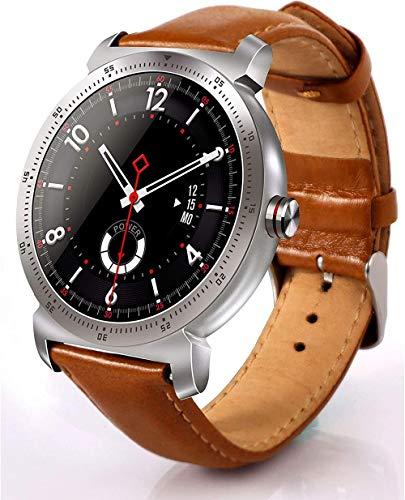 Reloj inteligente impermeable con monitor de actividad física y monitoreo del sueño, ritmo cardíaco y presión arterial y cámara remota-Gold_TUPskin